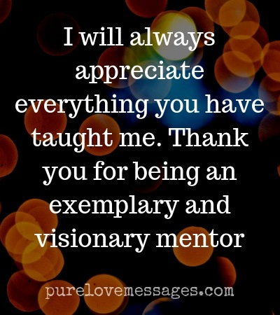 Words of Appreciation for Mentor in 2019 - Pure Love Messages
