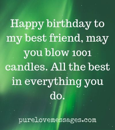 62+ Happy Birthday Quotes for Best Friend - Pure Love Messages