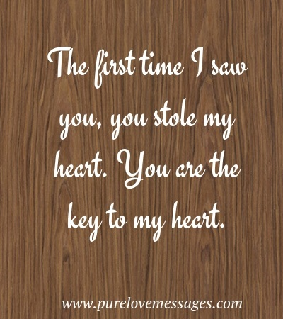 You Hold the Key to My Heart Quotes - Pure Love Messages